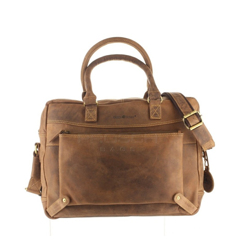 Kožená taška Greenburry Business 1697-25 hnědá