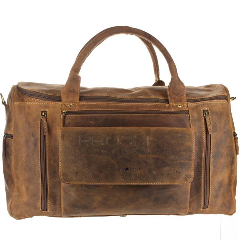 Kožená cestovní taška Greenburry 1736-25 hnědá
