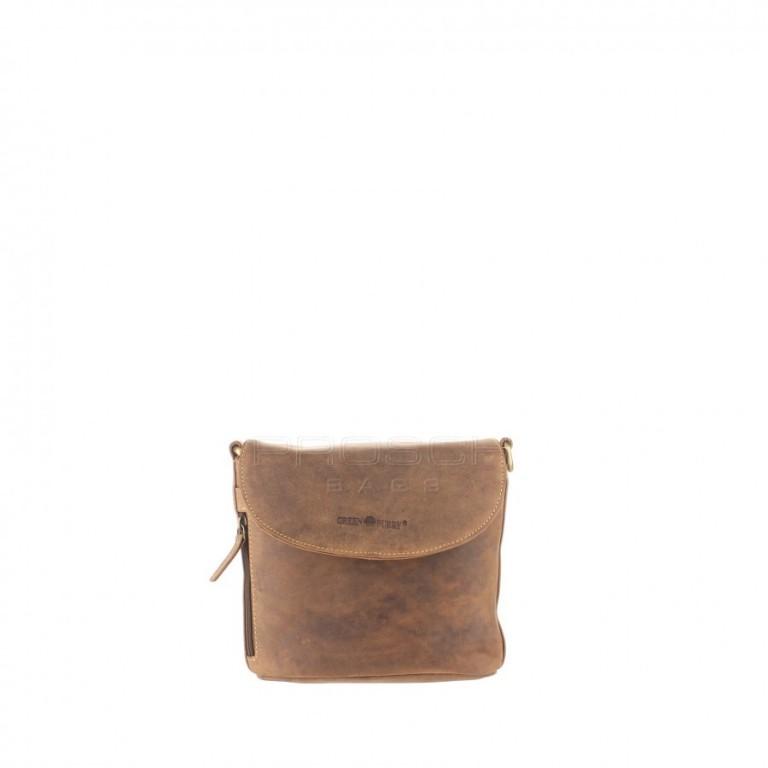 Kožená taška Greenburry 1727-25 hnědá