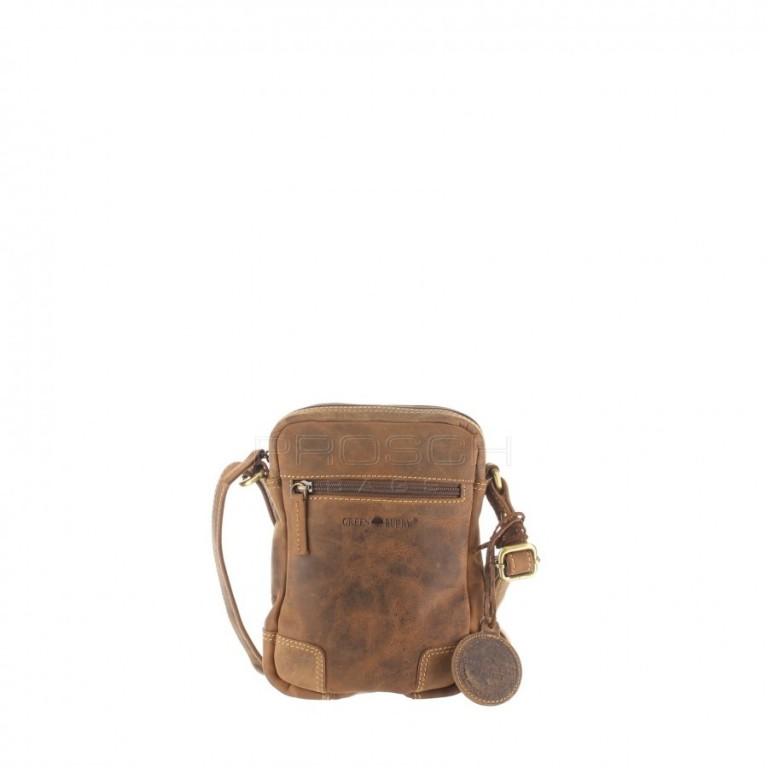 Kožená taška Greenburry 1832-25 hnědá