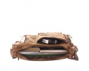 Kožená taška Greenburry Hunting 1763AM-25 hnědá č.6