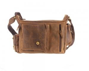 Kožená taška Greenburry Hunting 1763AM-25 hnědá č.8