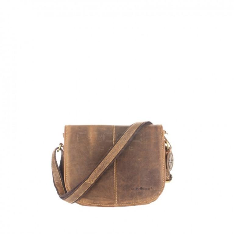 Kožená taška Greenburry 1723M-25 hnědá