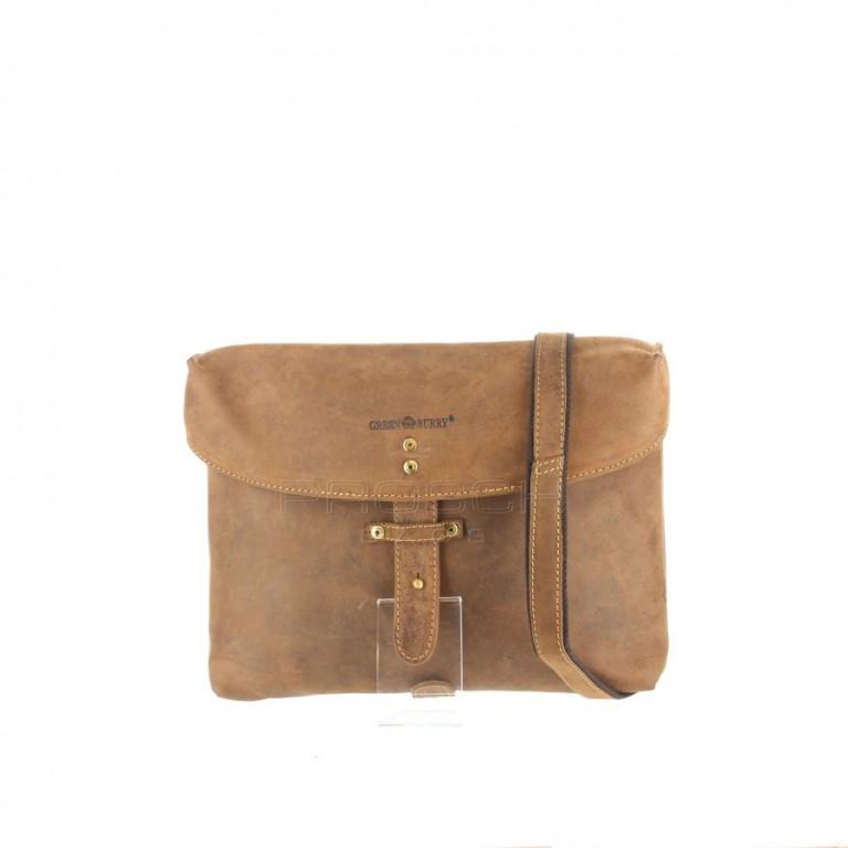 Kožená taška Greenburry Military Bag 1696-25 hnědá