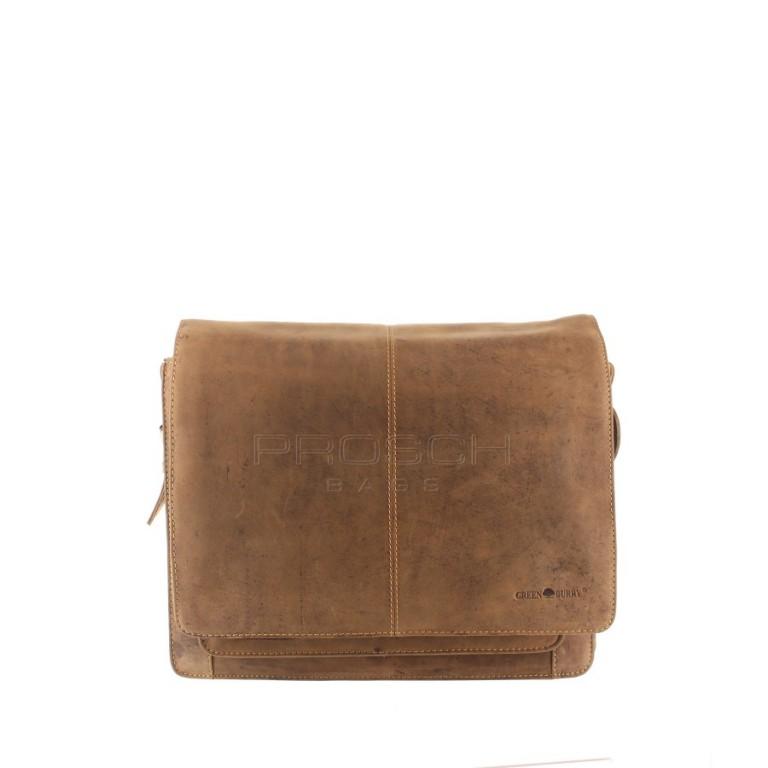 Kožená taška Greenburry 1739BM-25 hnědá