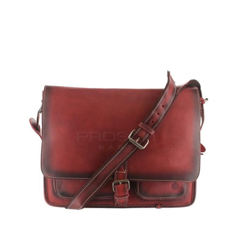 Kožená taška Greenburry BUFFALO 1003/B-26 červená