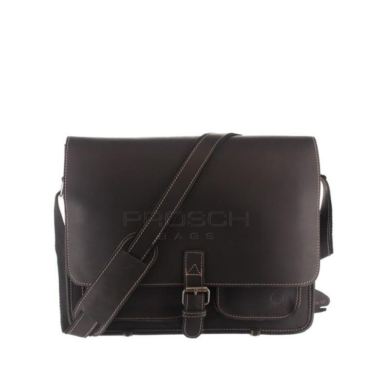 Kožená taška Greenburry BUFFALO 1003/B-20 černá
