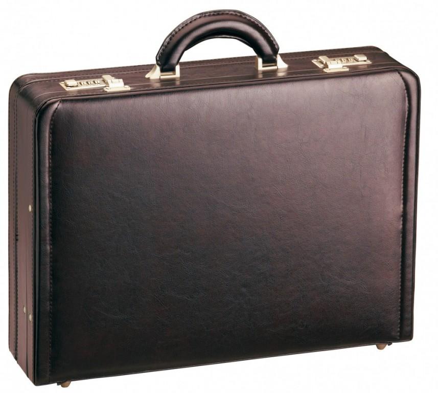 Kožený atache kufr D&N 2663-02 Bordeaux