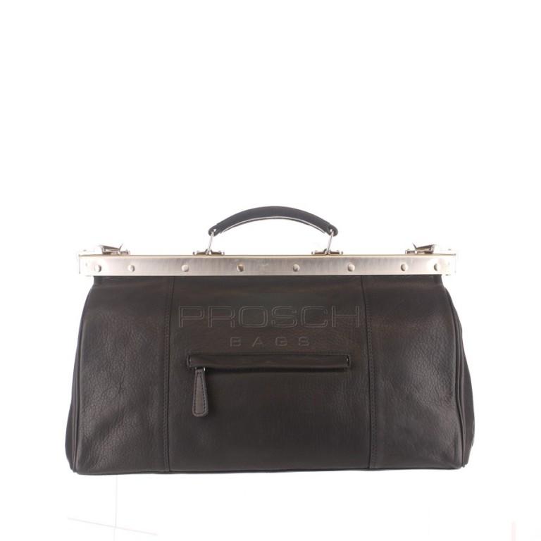 Kožená doktorská taška Greenburry 696-20 černá