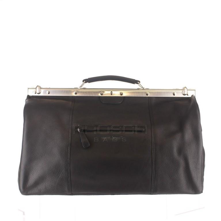 Kožená doktorská taška Greenburry 697-20 černá
