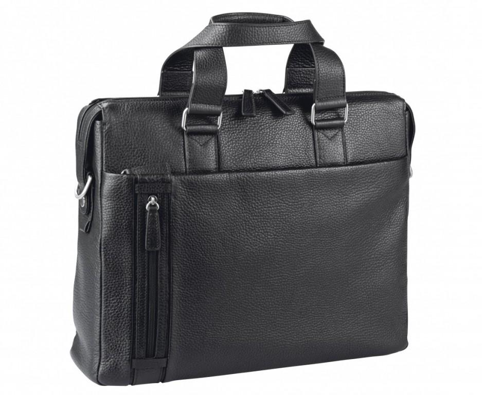 Pánská kožená taška D&N 5532-01 BLACK