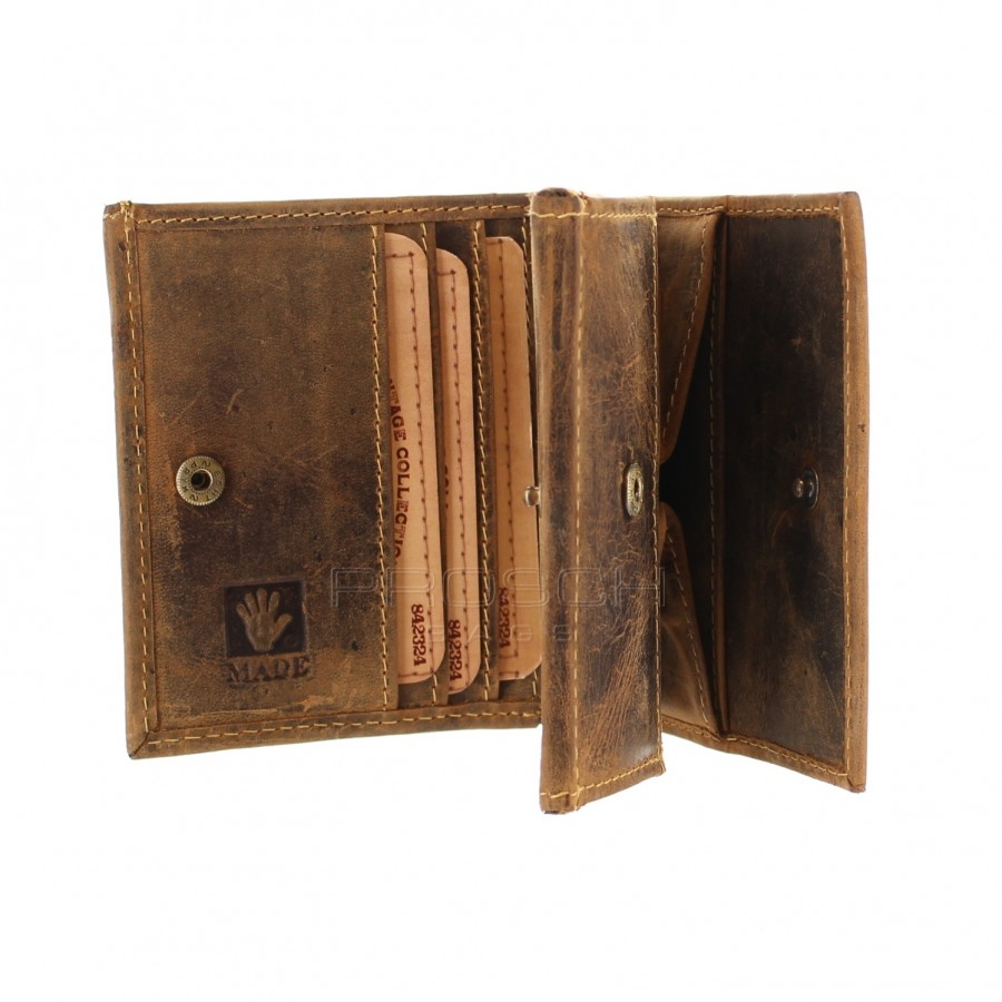 Kožená peněženka Greenburry 1808-25 hnědá  640008ef32